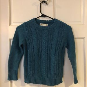 Teal Blue Abercrombie Cable knit Sweater